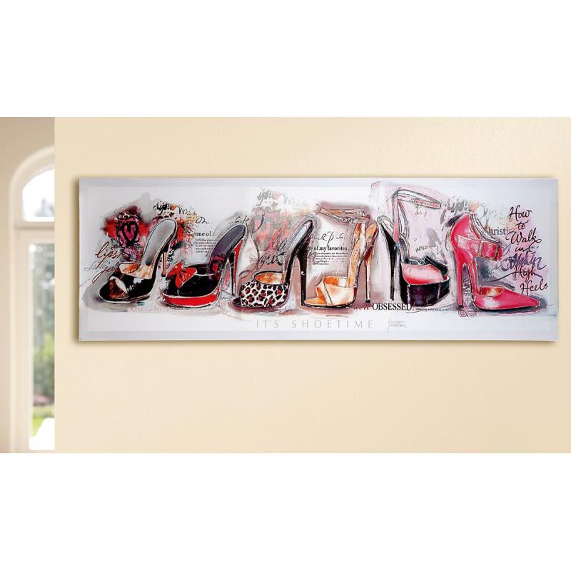 Gilde Bild Gemälde Shoetime 120x40 cm