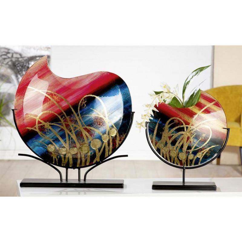 Gilde Glasart Vase Gräser 37cm