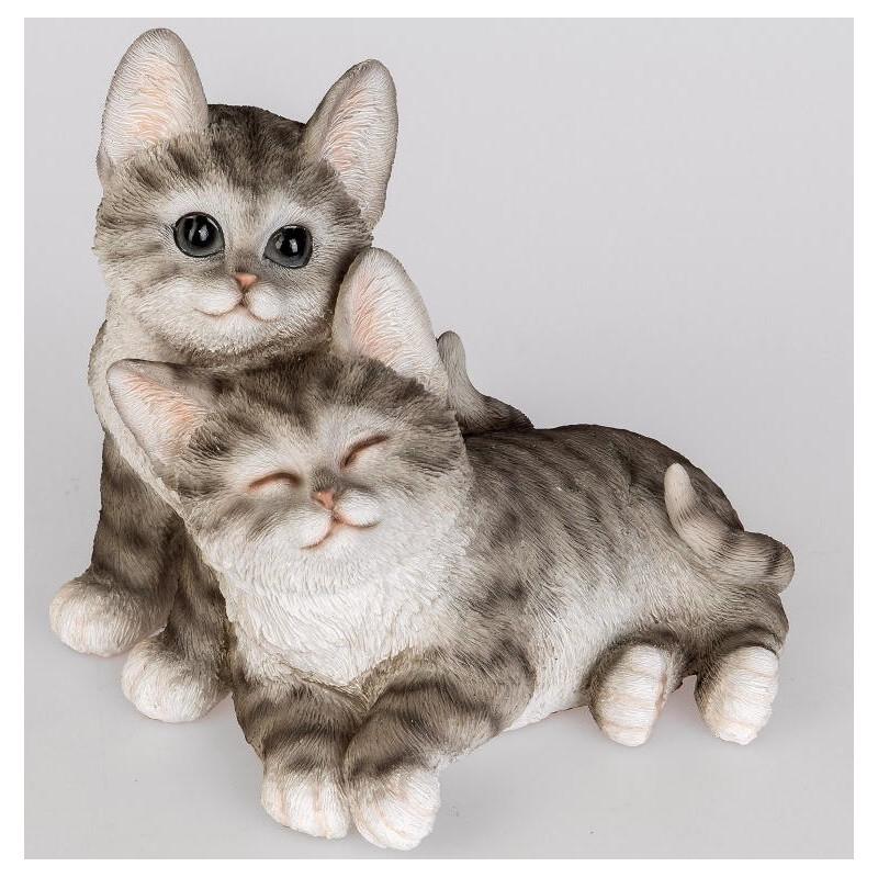 Formano Katzenpärchen weiß schwarz liegend 19 cm