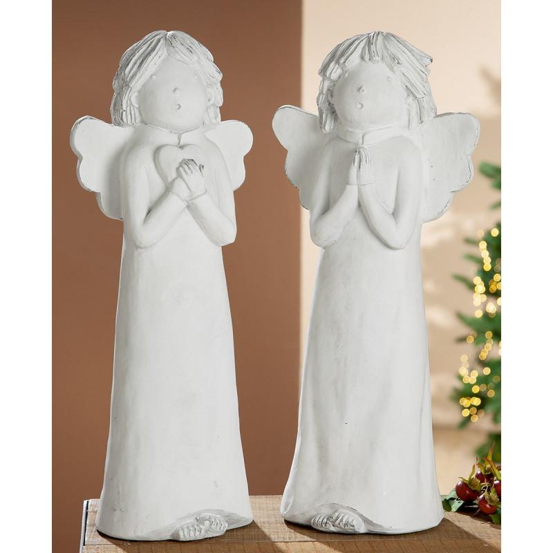 Gilde Skulptur Engel Frozen