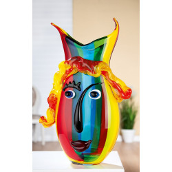 Gilde Glas Art Design Vase Rainbow