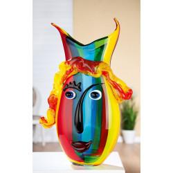 Gilde Glas Art Design Vase Rainbow