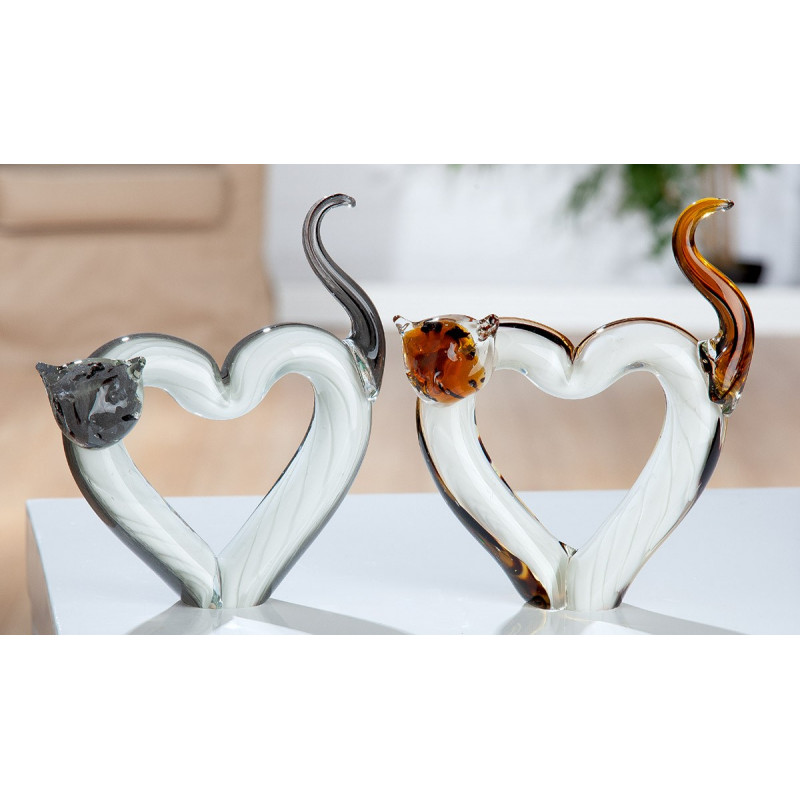 Gilde GlasArt Skulptur Herzkatze