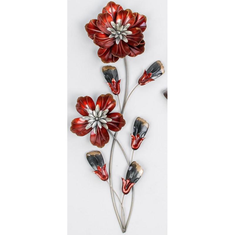 formano Wanddeko Blume rot 68 cm hoch