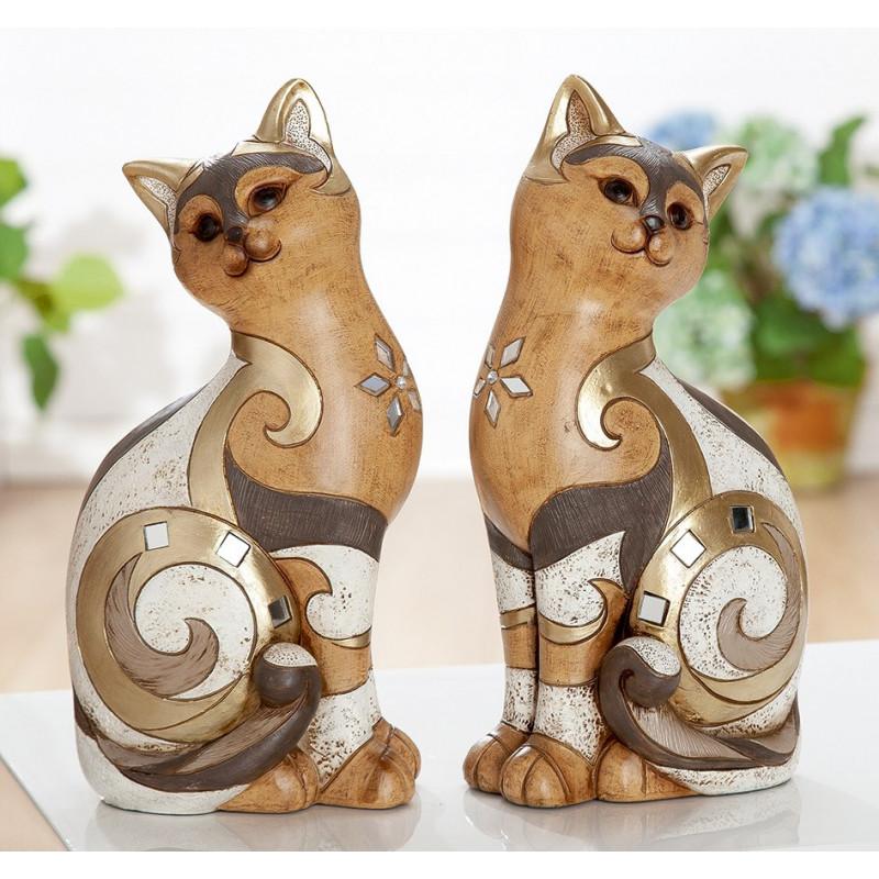 Gilde Deko Figur Katze Minos