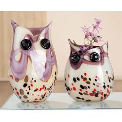 Gilde GlasArt Vase Eule Burdeos