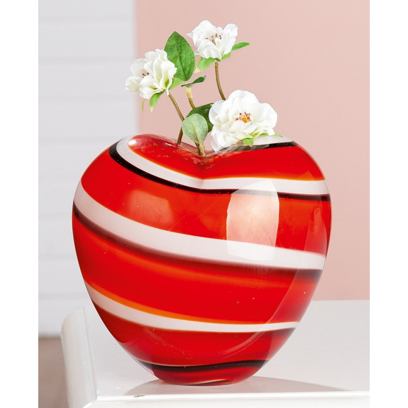 Gilde GlasArt Herz Vase