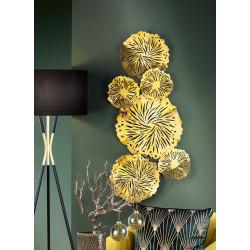 GILDE Wandrelief Goldseerosenblätter 44x100 cm