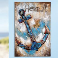 GILDE Gemälde Heimat auf Holz