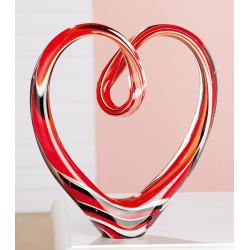 Gilde GlasArt Skulptur Herz Gilde Handwerk - 1