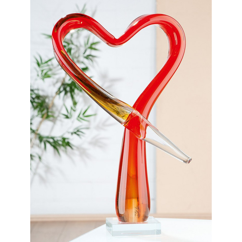 Gilde GlasArt Skulptur Herzlich