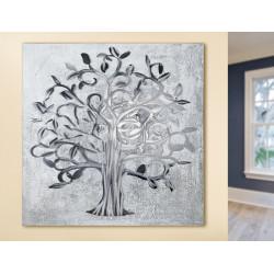 GILDE Gemälde Lebensbaum mit Aluminium Elementen Gilde Handwerk - 1