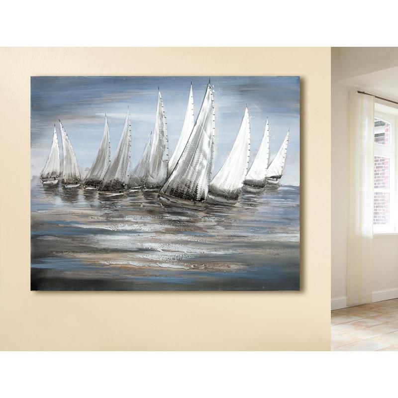 Gilde Gemälde Stormy Regatta