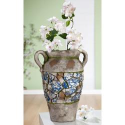 Gilde Amphore Mosaik blau