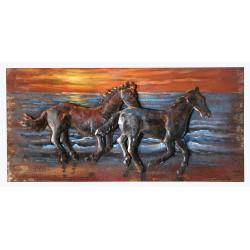 GILDE Metall Bild Freedom 80x40x3,5 cm