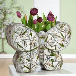 Gilde Pflanzschmetterling Mosaik grau