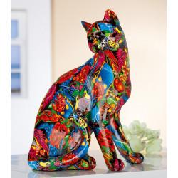 Gilde Katze Pop Art sitzend