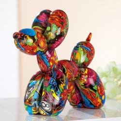 Gilde Ballon-Hund Pop Art mehrfarbig