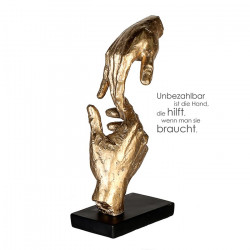 Casablanca Skulptur Two Hands goldfarben