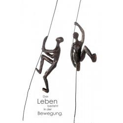 Casablanca Skulptur Scramble bronzefarben