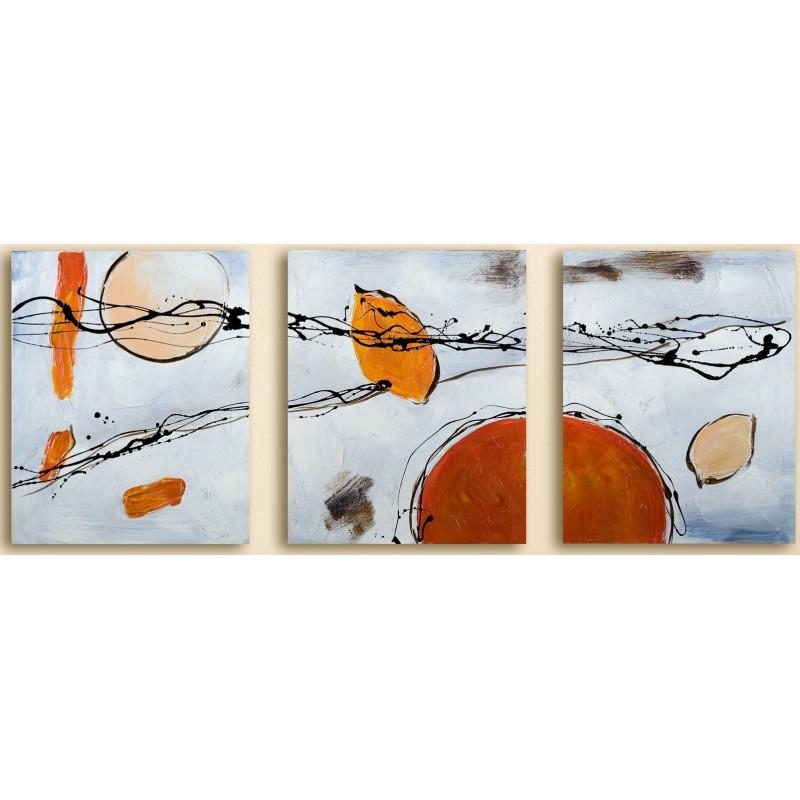 GILDE Wandbild Astratto handgemalt auf Leinen