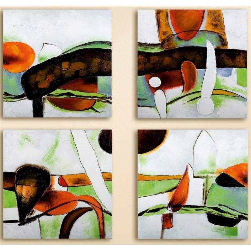 GILDE Wandbild Espressione handgemalt auf Leinen