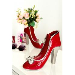 Gilde Vase High Heel Milano rot