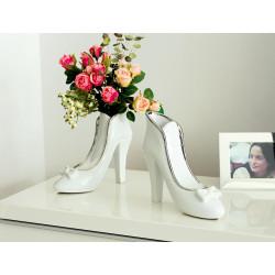 Gilde Vase High Heel Milano weiss