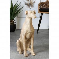 Casablanca Skulptur Windhund Holzoptik sitzend