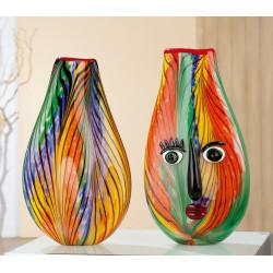 Gilde GlasArt Design Vase Fiori Colori