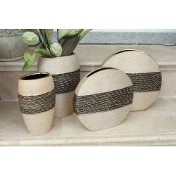 Gilde Keramik Vase Diskus Mangari