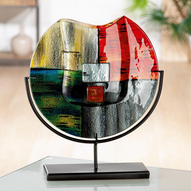 Gilde GlasArt Vase rund Mirano