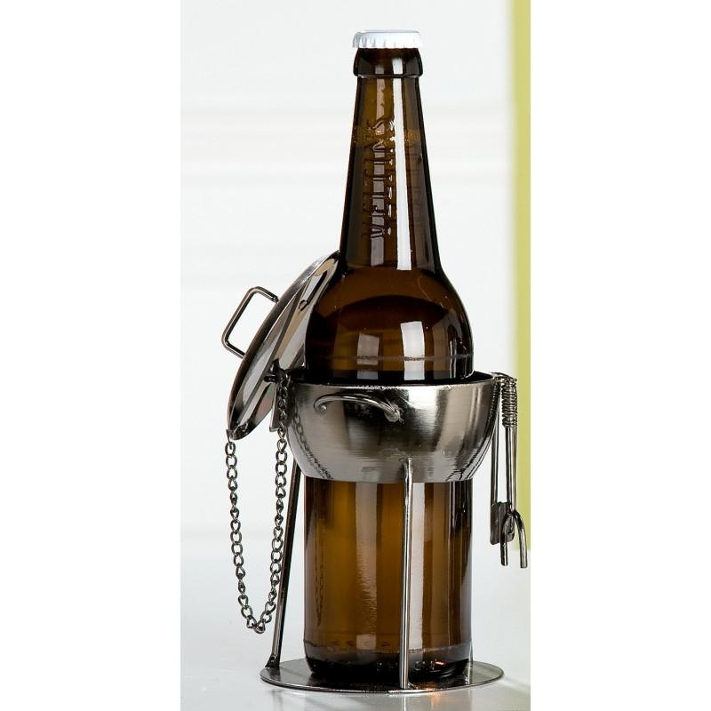 GILDE Bierflaschenhalter Grillmeister aus lackiertem Metall