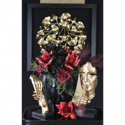 Casablanca Skulptur Silence goldfarben