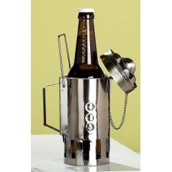 GILDE Bierflaschenhalter Grillkamin aus lackiertem Metall