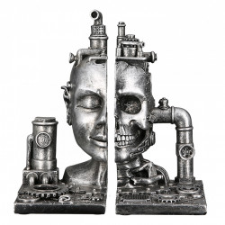 Casablanca Buchstütze Steampunk Skull