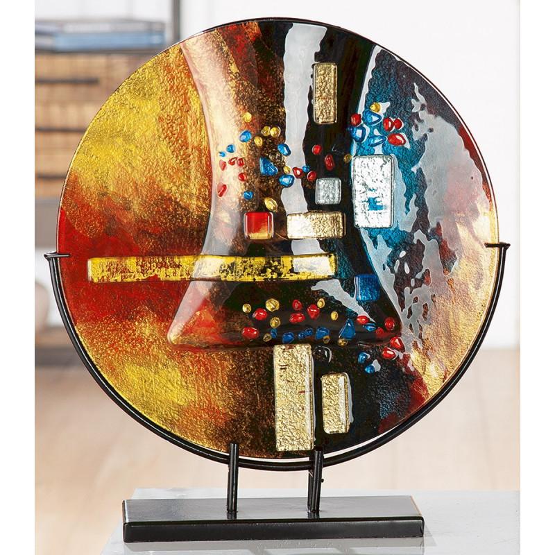 Gilde GlasArt Vase rund Soleil