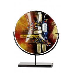 Gilde GlasArt runde Vase Soleil