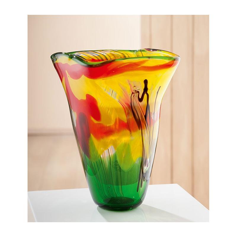 Gilde GlasArt konische Vase Colorato