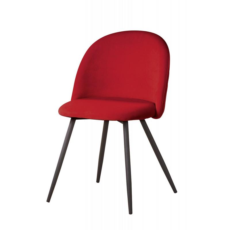 Gilde Stuhl Meran rot gesteppt 2er Set