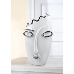 Gilde Vase mit Gesicht Oval