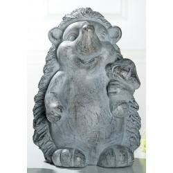 GILDE Dekofigur Igel Ferdi aus Magnesi, antik-grau, stehend, 26x27x39 cm