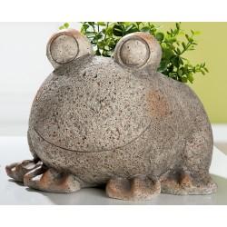 GILDE Deko Figur Pflanzfrosch Stony Sanddekor 24x26x19 cm
