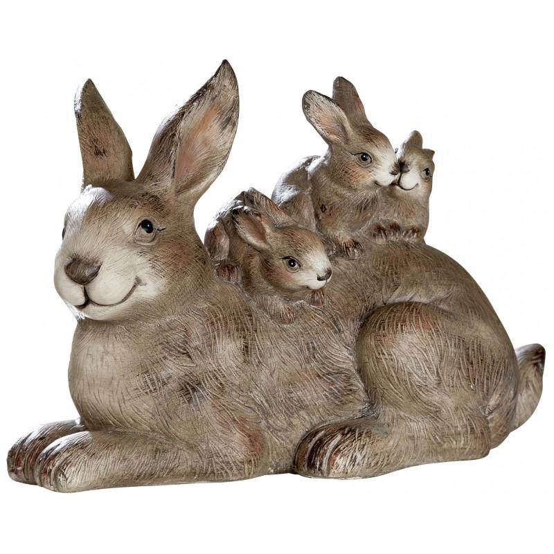dekojohnson Deko Hasenfamilie Hasengruppe Osterfigur