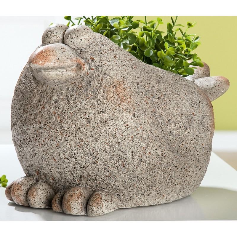 GILDE Deko Figur Pflanz Vogel Stony Sanddekor 22x31x19 cm