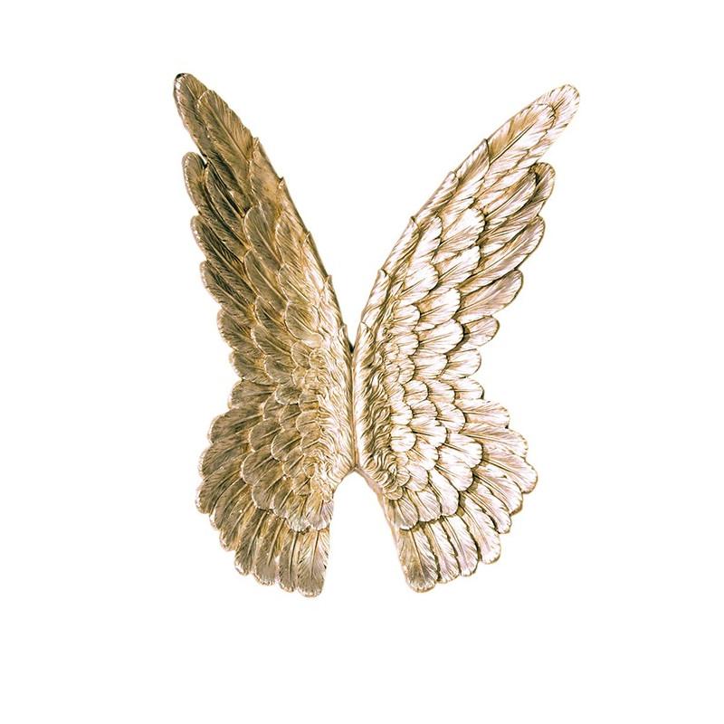 Casablanca Wandobjekt Flügel goldfarben antikfinish