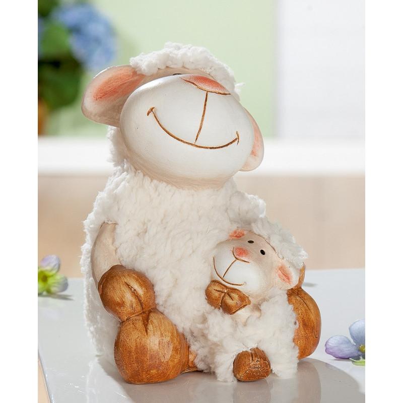 Gilde Schaf Wolly mit Kind und Fell