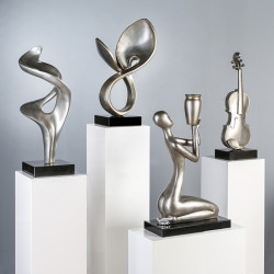 Casablanca Skulptur Athene Platinfarben