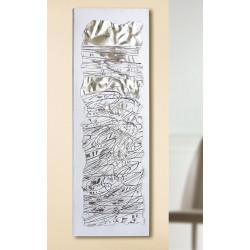 GILDE Gemälde Scribble mit Metallornamenten