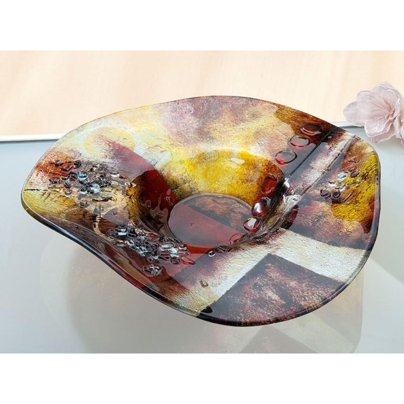 Gilde GlasArt runde Schale Amber Sundown